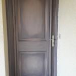 porte entrée patine acryl