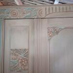 meuble patiné detail
