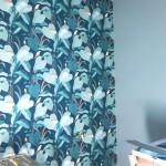 papier oiseau bleu canard 1